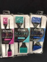 3 Sets Of Annie Silicone Tint Brush Sets / Large, Med, Small Never Tangle Hair - $10.88