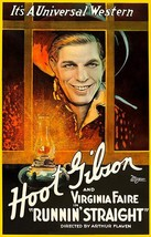 Runnin' Straight - Hoot Gibson - 1920 - Movie Poster - $9.99+
