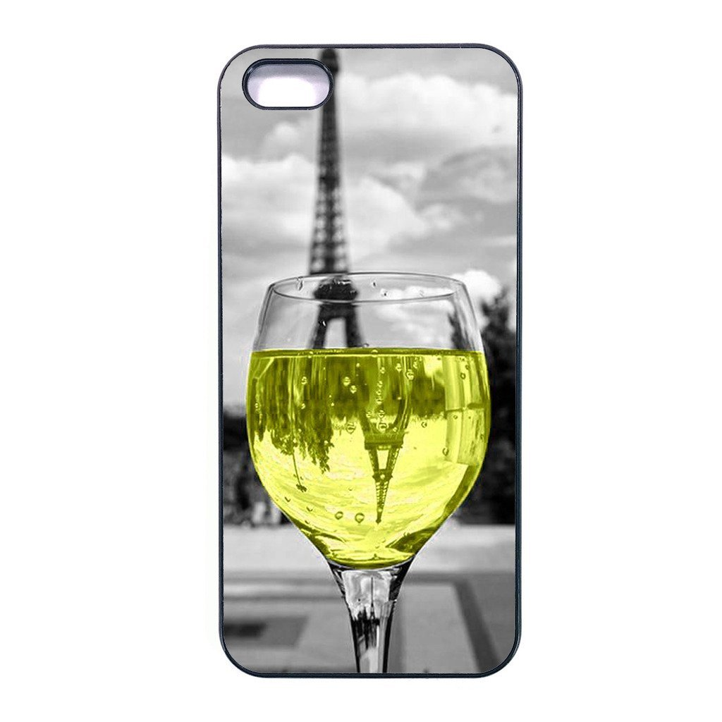 Coloful wine with Paris Iphone 6s plus case Customized soft rubber phone case, d