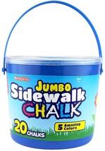 Sidewalk Chalk Jumbo 20 Colorful Chalks Kids Crafts Outdoor Fun - $16.14