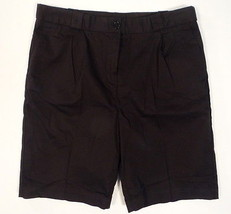Lacoste Black Pleated Front Stretch Bermuda Shorts Womens NWT $130 - $89.99