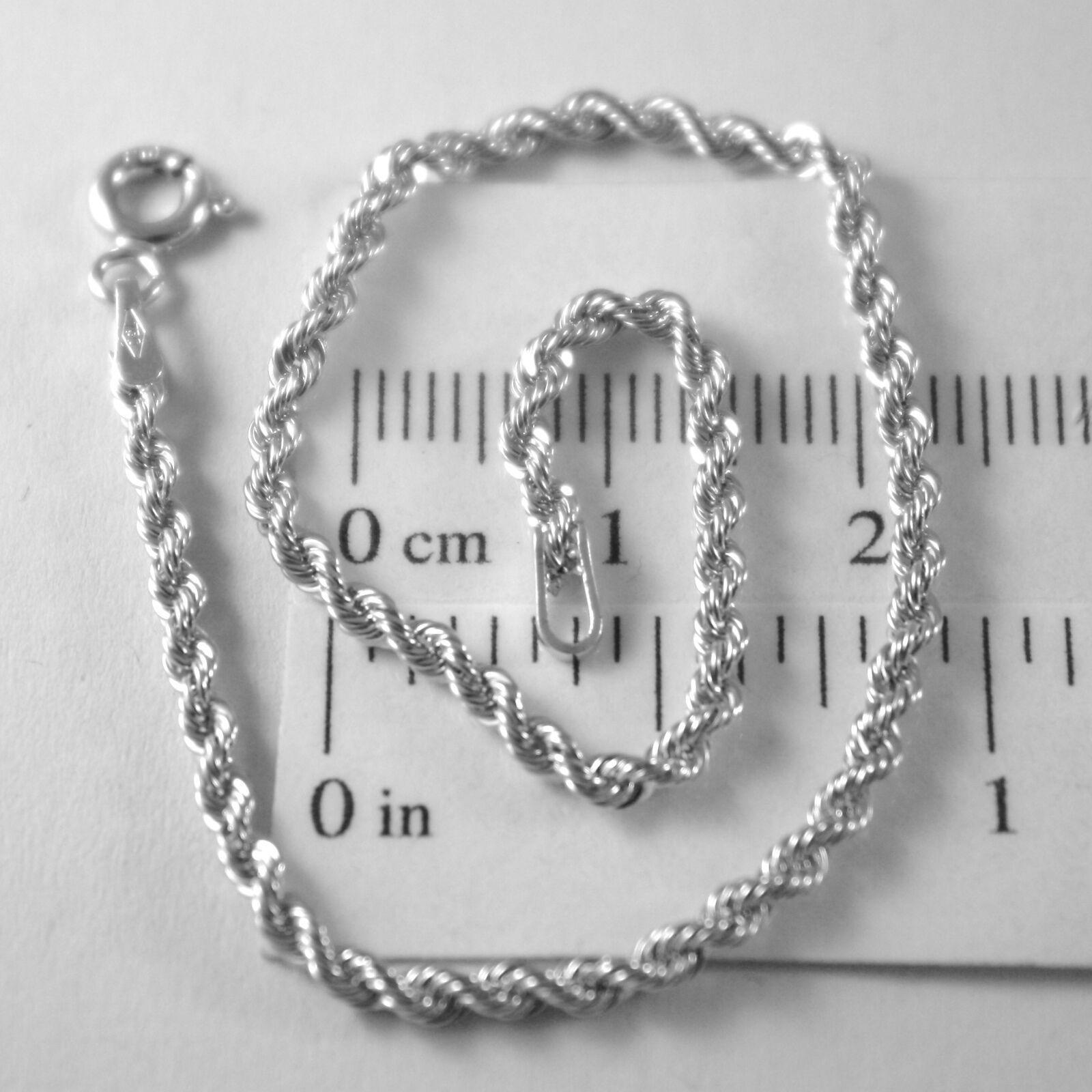 Bracelet or Jaune ou Blanc 750 18K Corde Tressé,18,5 cm,Fabriqué en Italie image 2