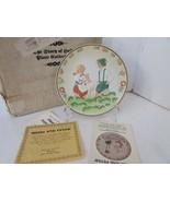 HAMILTON COLLECTOR PLATE STORY OF HEIDI LTD ED HEIDI AND PETER COA & BOX... - $6.88