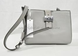 Michael Kors Mercer Bond Leather Medium Messenger/Shoulder Bag in Quarry Grey - $229.00