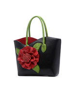 Women Luxury Bags Brands Vintage Flower PU Leather Tote Bag Famous Desig... - $142.80