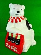 Vintage 1998 Limited Edition Cavanaugh Coca Cola Coke Polar Bear Cookie Jar - $42.22