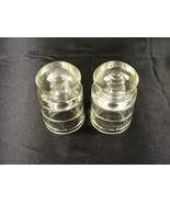 LOT OF 2 VINTAGE HEMINGRAY CLEAR GLASS INSULATORS  40-41 & 5-41 - $9.99