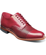 Stacy Adams Madison Shoes Cap Toe Oxford New Color Red 00905-600 - £91.07 GBP