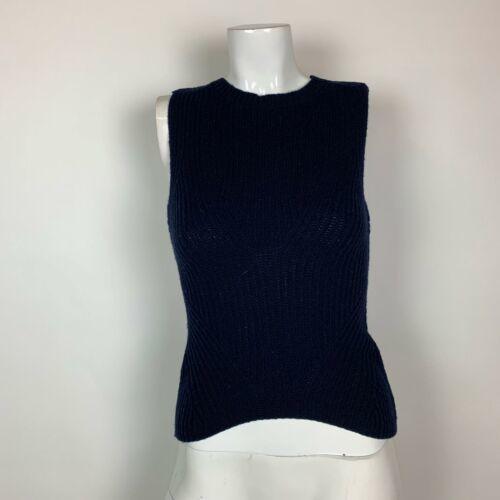 Theyskens Theory Sweater Vest Wool Navy Blue Women Sz S