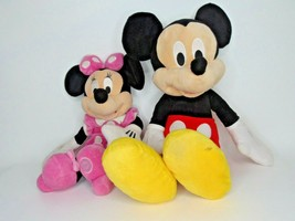 "25"" Mickey Mouse Plush 19"" Minnie Disney & Disney Store I6 - $19.79"