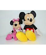 "25"" Mickey Mouse Plush 19"" Minnie Disney & Disney Store I6 - $19.79"