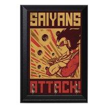 Saiyans Attack! Vegeta Anime DBZ Dragonball Z Decorative Wall Plaque Key... - $16.66