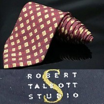 Robert Talbott Best Studio Silk Bright Red USA Dapper Suit Fashion Tie - $37.62