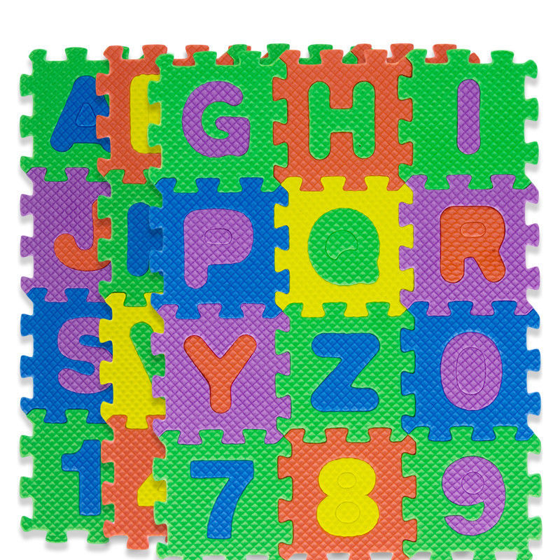 36 Pcs Baby Kids Educational Alphanumeric Puzzle Mats Small Size Child Toy Gift