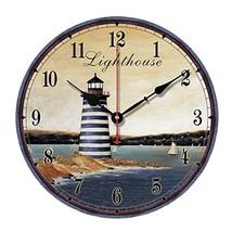 "George Jimmy 10"" Retro Unique Lighthouse Wall Clock Decor Silence Hangin... - $42.72"