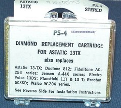 STEREO NEEDLE CARTRIDGE FOR Astatic 13TX 13T 13TB EV 13 13D 33 45 & 78 RPM image 2