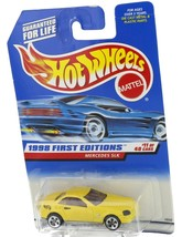 1998 Hot Wheels First Editions Yellow Mercedes SLK