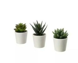 3 Pack IKEA FEJKA Artificial Potted Plant With Pot Indoor/Outdoor Succul... - $16.40