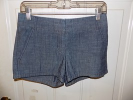 J.CREW Flat Front CHINOS Broken-in Shorts Chambray  SIZE 00 WOMEN'S EUC - $17.01