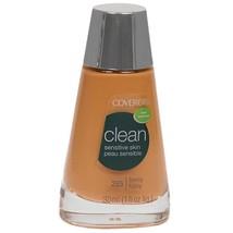 Covergirl Clean Tawny Liquid Foundation Sensitive Skin Oil Free Makeup 1 Oz - $11.99