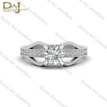 1.0cttw DEF White Moissanite Wedding Ring Womens Promise Ring Anniversar... - £263.17 GBP