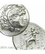 Genuine ALEXANDER the Great Tetradrachm Rare Celtic King Kavaros. Herakl... - $809.10