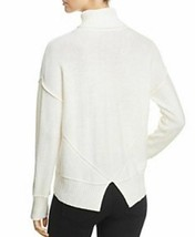 NEW H. ONE Split Off White Back Turtleneck Acrylic Wool Knit Sweater XL MSRP $88 image 2