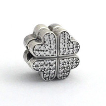 Authentic Pandora Petals of Love Clip, Sterling Silver w/ Clear CZ, 791805CZ New - $67.44