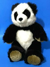 "Build a Bear Panda Bear Plush 11"" Sitting Black White Brown Paws Cute So... - $20.57"