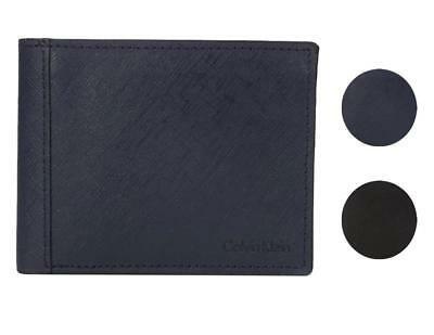Calvin Klein CK Men's Classic Leather ID Card Passcase Wallet 7967096