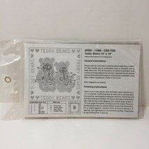 "Teddy Bears Pillow Stamped Cross Stitch Kit 14"" x 14"" - $8.79"