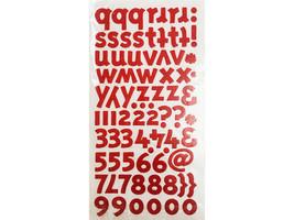 Red Felt Alpha and Number Sticker Set image 2