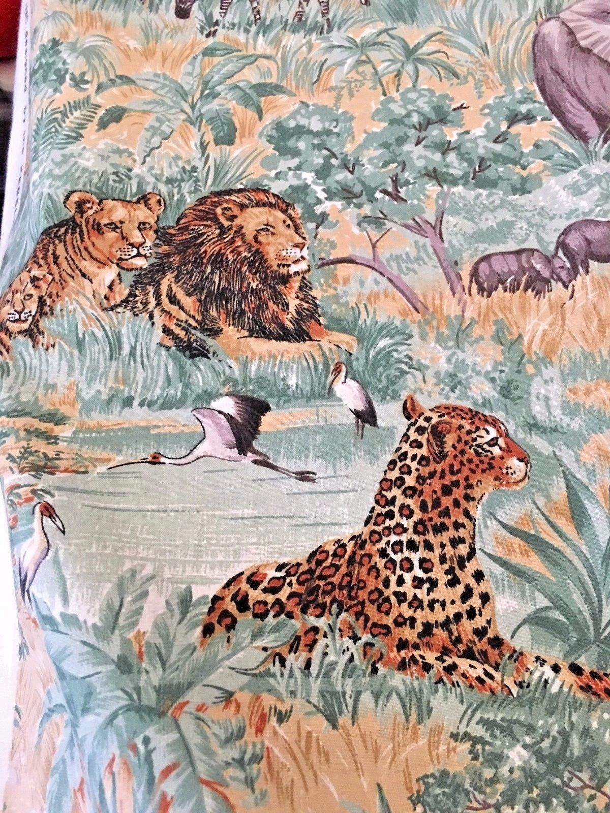 OUT OF AFRICA - ANIMAL PRINT FABRIC BY THE KESSLERS FOR CONCORD FABRICS - 1/2 YD