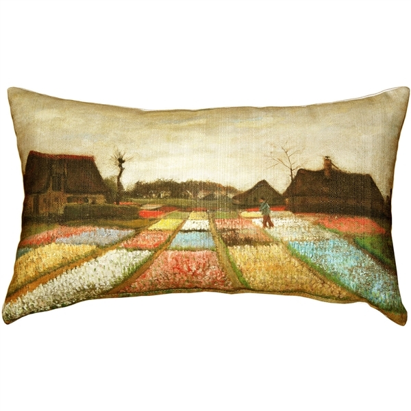 Primary image for Pillow Decor - Van Gogh Flower Beds in Holland Throw Pillow
