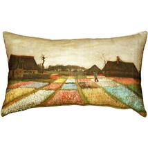 Pillow Decor - Van Gogh Flower Beds in Holland Throw Pillow - £26.77 GBP
