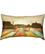 Pillow Decor - Van Gogh Flower Beds in Holland Throw Pillow - $34.95