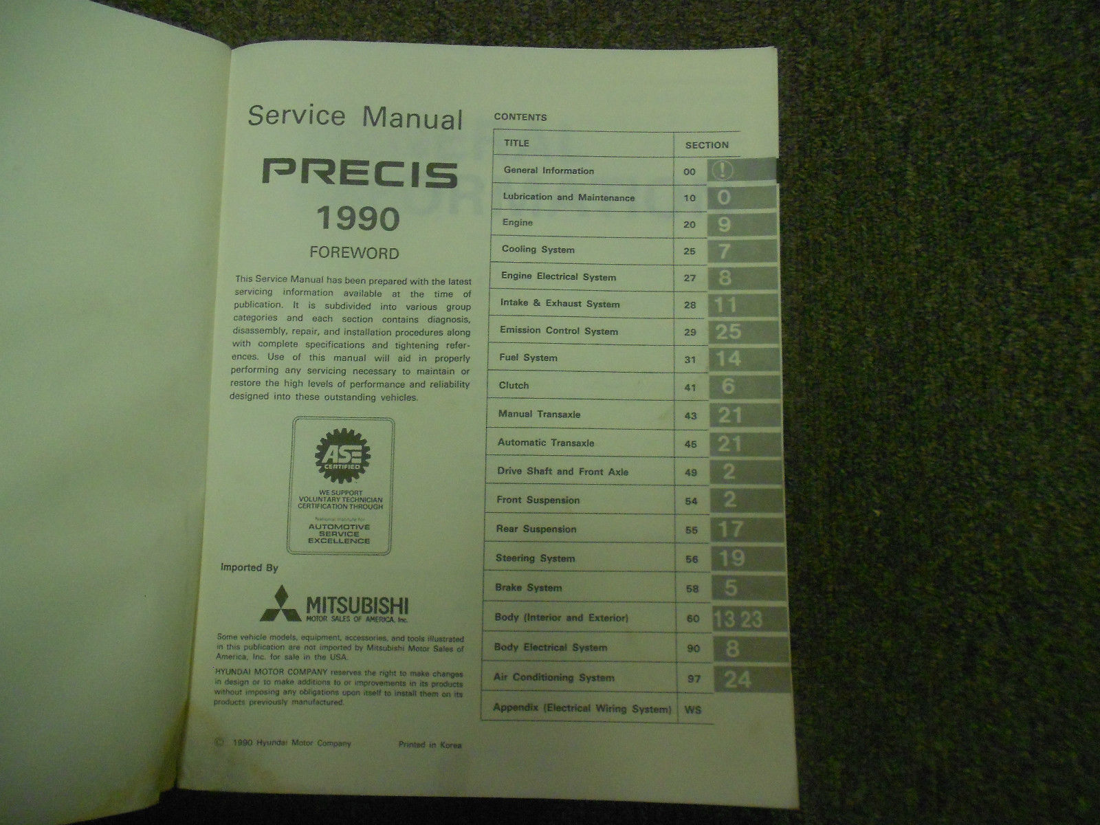 1990 MITSUBISHI Precis Service Repair Shop Manual FACTORY OEM BOOK 90 DEALERSHIP