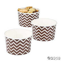 Chocolate Brown Chevron Snack Paper Bowls  - $6.24