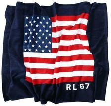 "NWT POLO RALPH LAUREN ""American Flag"" LIMITED EDITION Beach Towel 35x66 ... - $50.40"