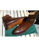 Handmade Jodhpur Brown Color Buckle Closure Leather Boot - $149.99+