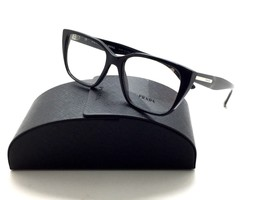 Prada VPR 08T 1AB-1O1 Shiny Black New Authentic Eyeglasses 53mm w/Case - $87.27