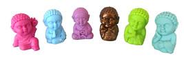 Pocket Buddha Figurine Toy Faith Peace Happiness Wisdom Love Harmony, se... - $24.99
