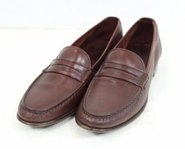 Salvatore Ferragamo Mens 10 Brown Leather Slip On Penny Loafer Dress Shoes  - $85.09