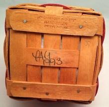 Longaberger 1993 Sweetheart Basket Combo Red Ticking Fabric  - $20.58