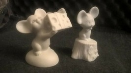 2 FINE BISQUE PORCELAIN FOR THE LITTLE GALLERY 1970's HALLMARK  MADE IN ... - $12.86