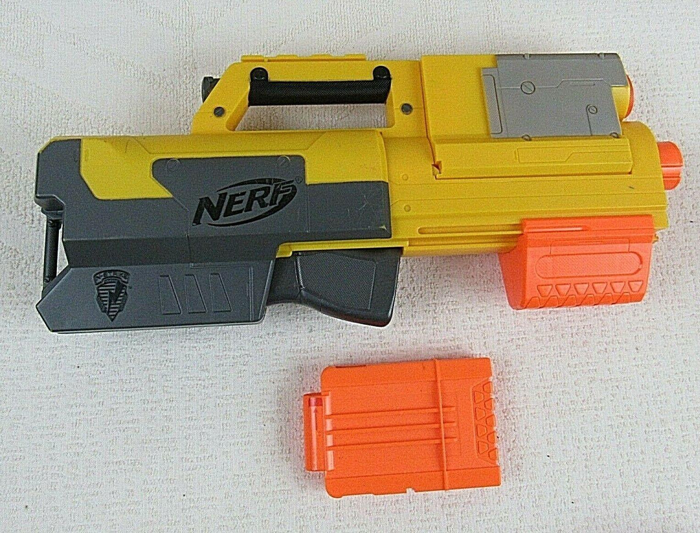 Nerf N-Strike Dart Gun Yellow Shoulder Stock Accessory Piece Part 2007 Used