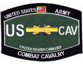 "4.5"" Army Mos Combat Cavalry Embroidered Patch - $23.74"