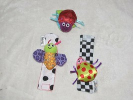 Lamaze Insect Bug Wrist Rattles Squeak Crinkle Baby Development Toys Hand Finder - $12.86