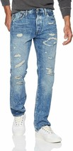 Levi's Strauss 501 Men's Original Fit Straight Leg Destroyed Distressed Jeans