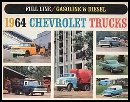 1964 Chevrolet Truck Gas & Diesel Color Brochure - $11.69